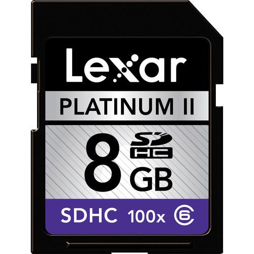 Lexar 8GB SDHC Memory Card Platinum II Class 6