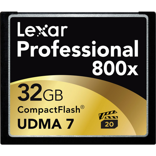 Lexar 32GB CompactFlash Memory Card Professional 800x UDMA 7
