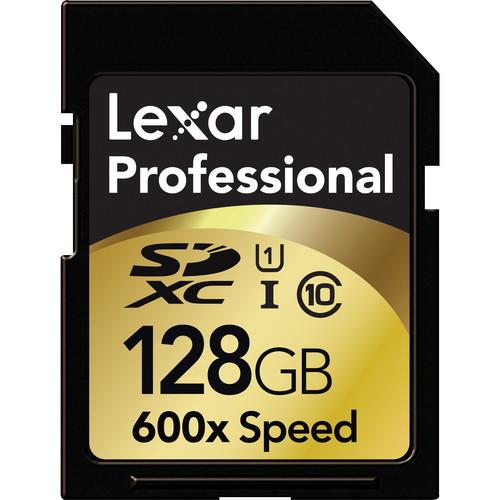 Lexar 128GB SDXC Memory Card Professional Class 10 600x UHS-I