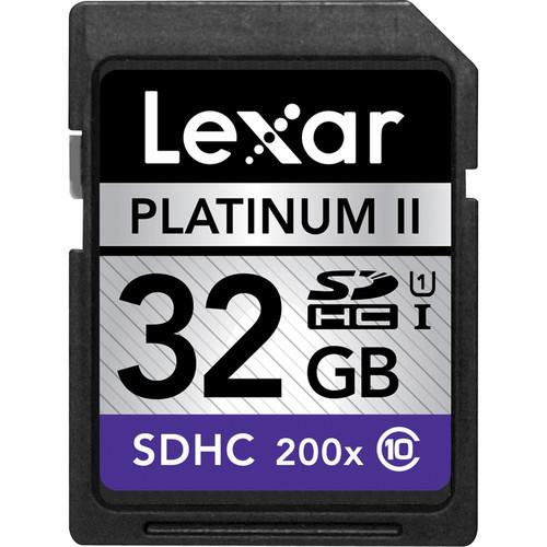 Lexar 32GB SDHC Memory Card Platinum II Class 10 UHS-I
