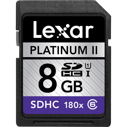 Lexar 8GB SDHC Memory Card Platinum II Class 6 UHS-I