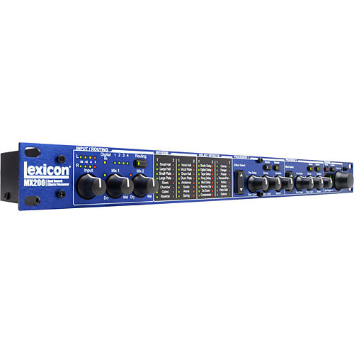 Lexicon MX-200 24-Bit Dual DSP, Dual Channel Multi Effects Processor with Computer Control for Mac VST and Audio Units and Windows VST Based Applications