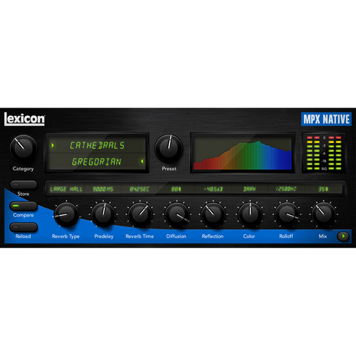 Lexicon MPX Native Reverb Plug-In - Software Reverb Plug-In