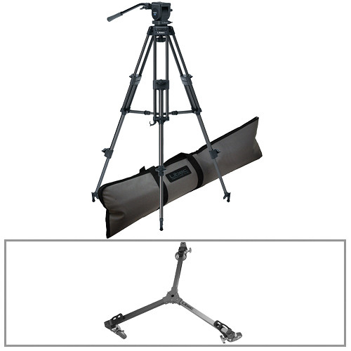 Libec LS-22DV 2-Stage Aluminum Tripod with H22DV Video Head & DL-3 Dolly Kit