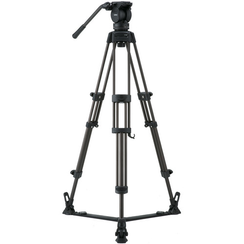 Libec LX5 Tripod With Pan and Tilt Fluid Head and Floor Spreader