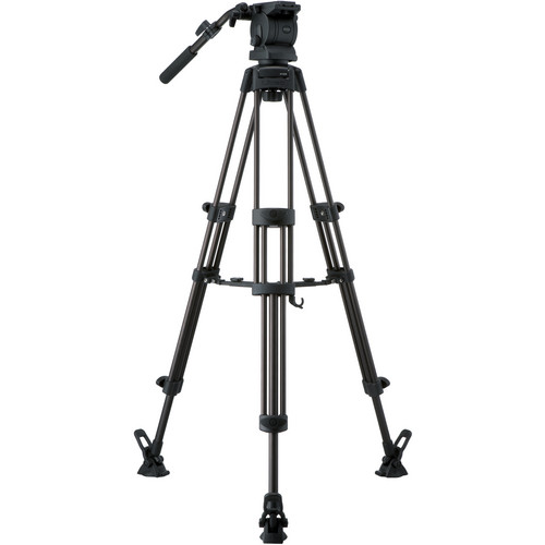 Libec RS-250RM Tripod With Pan and Tilt Fluid Head and Mid-Level Spreader