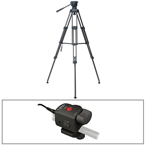Libec TH-650DV 2-Stage Aluminum Tripod with Video Pan Head & Remote Control Kit