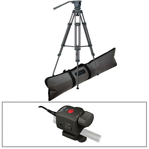 Libec TH-950DV 2-Stage Aluminum Tripod with H22DV Video Head & Remote Control Kit