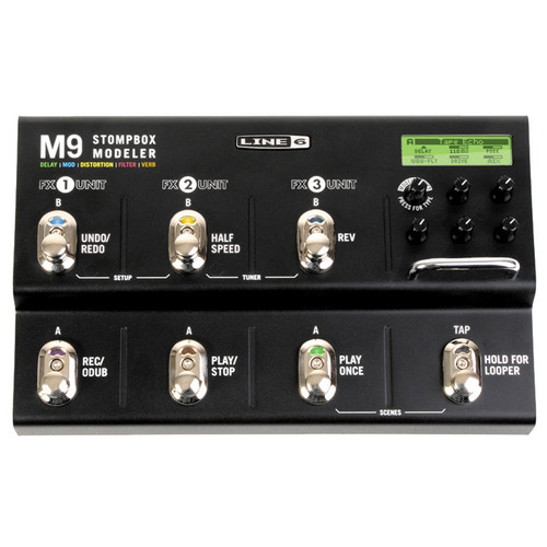Line 6 M9 Stompbox Modeler - Delay, Modulation, Distortion, Filter & Reverb