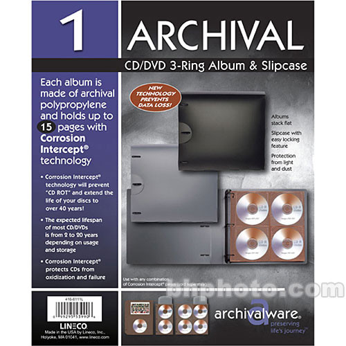 Lineco Archivalware 8 CD System (Black)