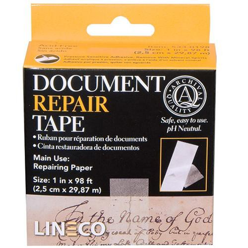 "Lineco 533-0198  Document Repair Tape  / 1"" x 98'"