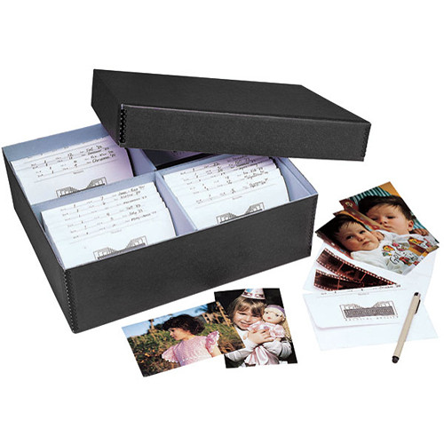 "Lineco 613-1512 Bulk Photo Storage Box (Without Envelopes, 15.5 x 12 x 5"", Black)"
