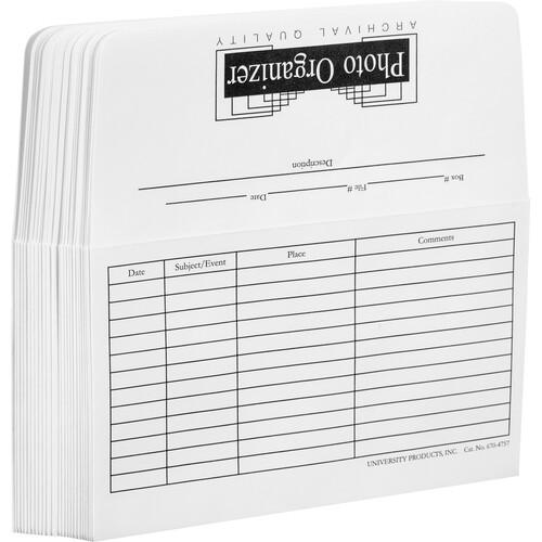 """Lineco 670-4757 Infinity Photo File Envelopes (4 x 6"""", 25 Envelopes)"""