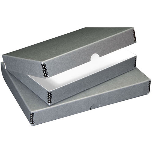 "Lineco 717-2114 Folio Storage Box (11.5 x 14.5 x 1.75"", Gray Boxboard)"