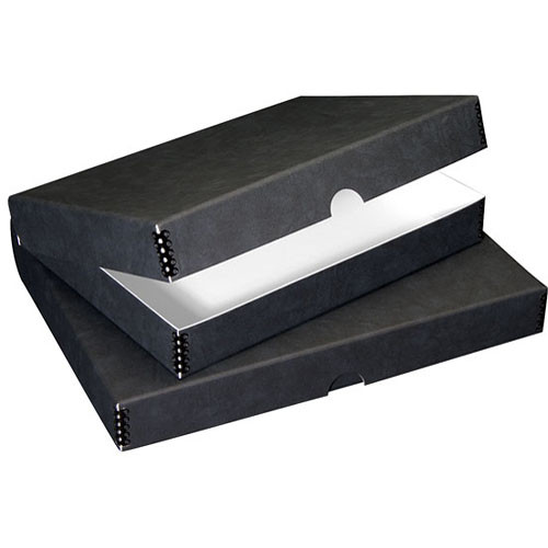 "Lineco Folio Storage Box (9.5 x 12.5 x 1.75"", Black)"