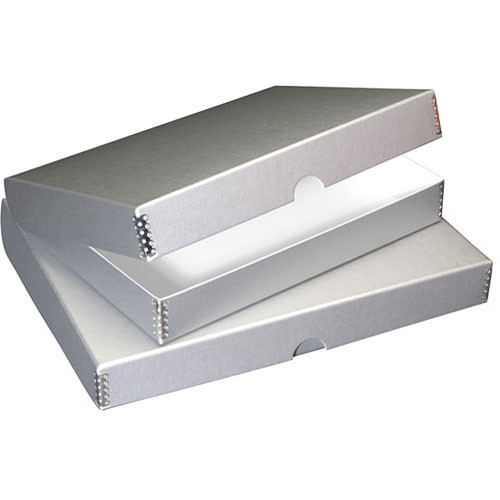 "Lineco Folio Storage Box (11 x 14"", Metallic Silver)"