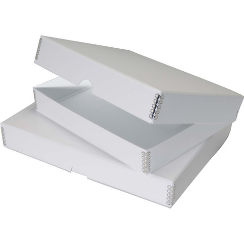 "Lineco Folio Storage Box (4 x 6.5 x 3"", Pure White)"