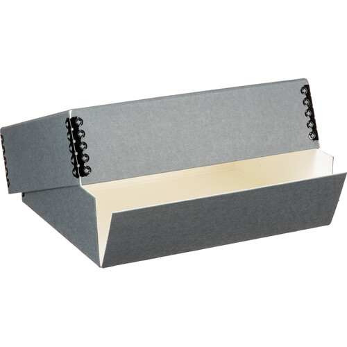 "Lineco 733-0008 Museum Quality Drop-Front Storage Box (8.5 x 10.5 x 3"", Gray Gray)"