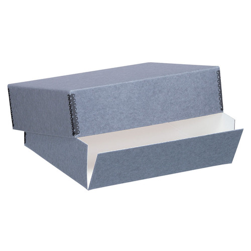 "Lineco Drop-Front Archival Box (11.5 x 15 x 3"", Blue/Gray)"