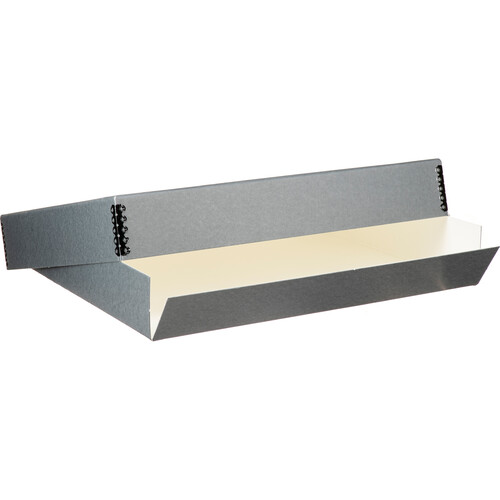 "Lineco Drop-Front Archival Box (14.5 x 18.5 x 3"", Blue/Gray)"