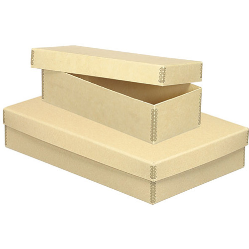 "Lineco 733-1711 Short Lid Boxes (11 x 17 x 3.5"", Tan)"