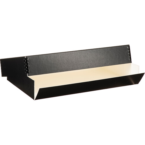 "Lineco 733-2017 Museum Quality Drop-Front Storage Box (11.5 x 17.5 x 3"", Black with White Interior)"