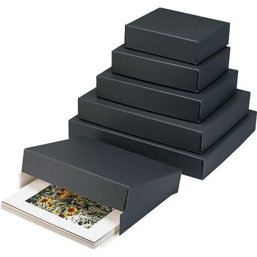 "Lineco Drop-Front Archival Box (23 x 31 x 3"", Black)"