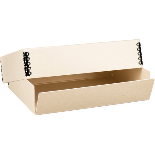 "Lineco Drop-Front Archival Box (9.5 x 12.5 x 3"", Tan)"