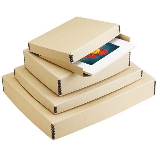 "Lineco 733-3108 Museum Quality Drop-Front Storage Box (8.5 x 10.5 x 1.5"", Tan Tan)"