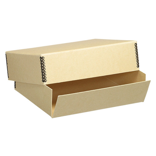Lineco 733-3119 Short Lid Boxes (13.5'' x 19.5'' x 3.0'', Tan)