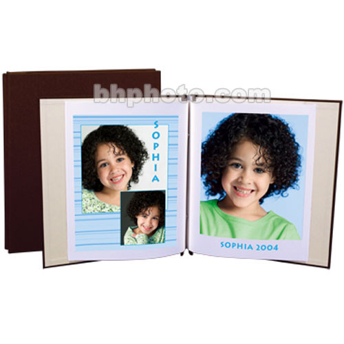 "Lineco Digital Postbound Album - 9.5 x 11"" - European Bookcloth - Chocolate"