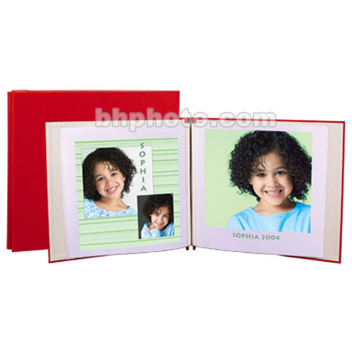 "Lineco 12 x 13"" Digital Post Bound Album - Red"