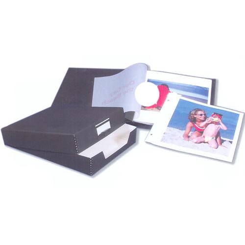 "Lineco 12 x 13"" Digital Album Combination Pack - Matte Black Leather Cover"