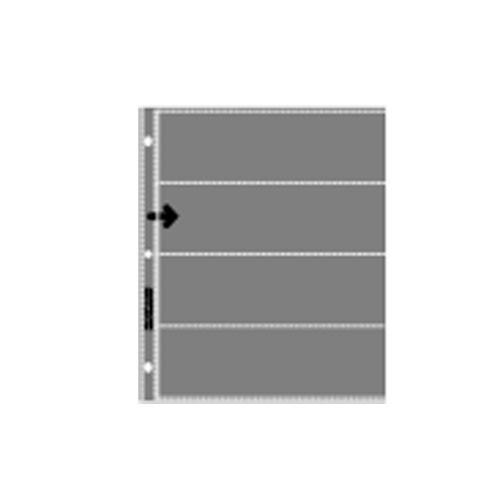 Lineco Slide Storage Strip (Clear) , 120 Format, Holds 4 Strips, 12 Frames (25 Pack)
