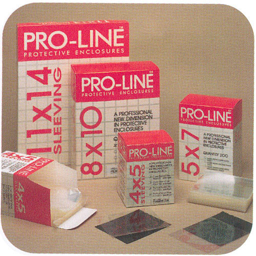 """Lineco Archivalware Proline Sheet Film Sleeve - 4 x 5"""" - Frosted/Open Flap - 200 Pack"""