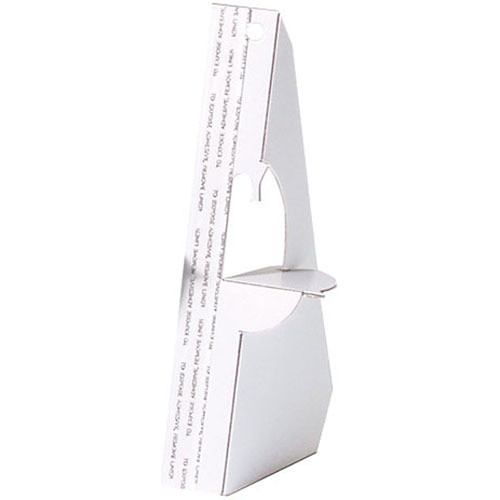 """Lineco 9"""" Single-Wing Easel Back (White, 25-Pack)"""