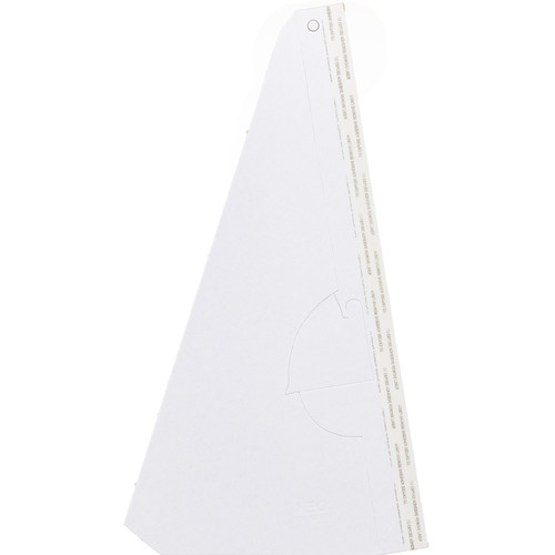 "Lineco 12"" Single-Wing Easel Back (White, 25-Pack)"