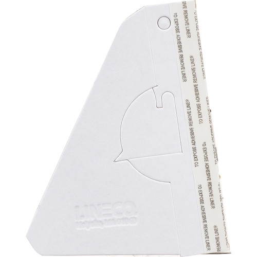 """Lineco Single-Wing Easel Back (5"""", White, 25-Pack)"""