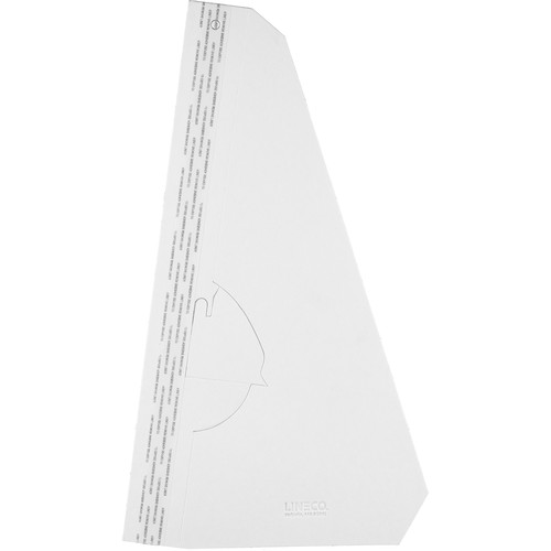 "Lineco 15"" Single-Wing Easel Back (White, 25-Pack)"