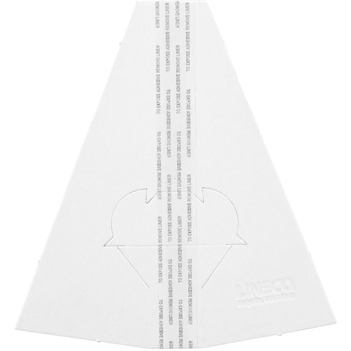 """Lineco Double-Wing Easel Back (7"""", White, 25-Pack)"""