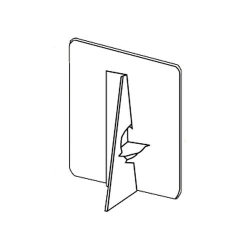 Lineco Self-Stick Easel Back Starter Kit (Assorted Sizes, White)
