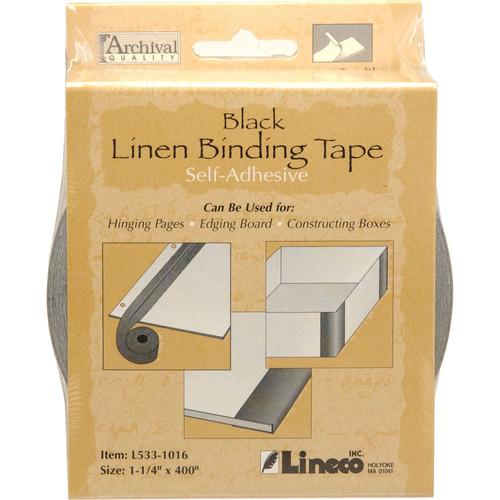 "Lineco Linen Tape - Self-Adhesive - Black - 1.25"" x 400"""