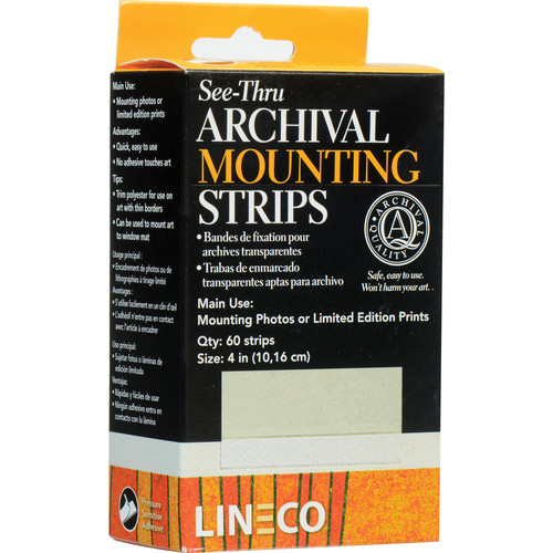 """Lineco """"See Thru"""" Mounting Strips - Pack of 60"""