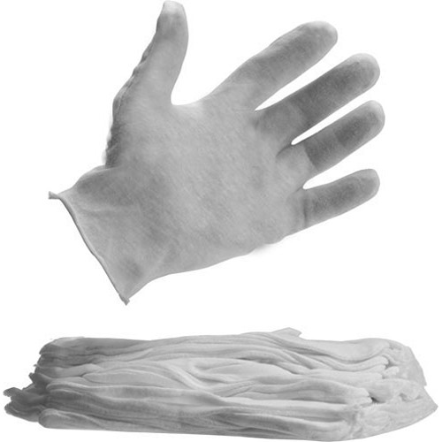 Lineco Stretch Nylon Gloves - Lint Free - Large - 12 Pairs