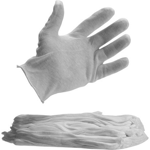 Lineco Darkroom Cotton Gloves - Medium Weight - Large Size - 12 Pairs