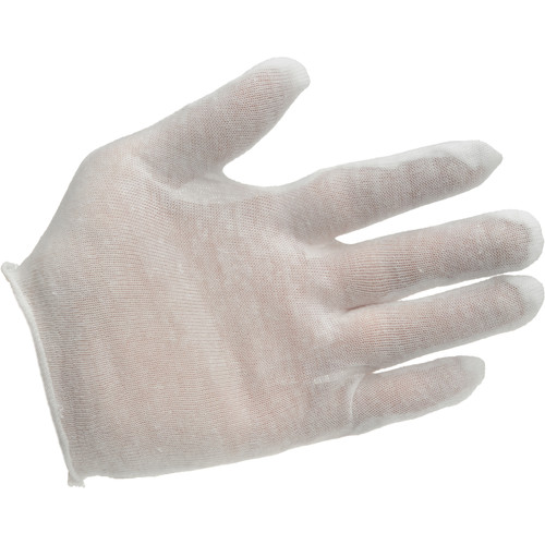 Lineco Darkroom Cotton Gloves (Lightweight, Medium, 12 Pairs)