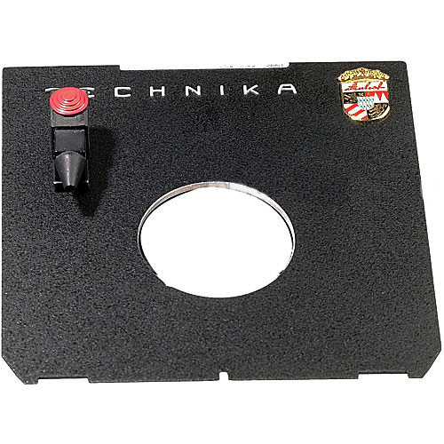 Linhof Flat Technika 45 Lensboard with Cable Release Quicksocket - ONLY for #0 Copal Shutters
