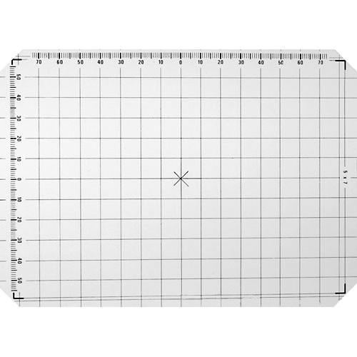 Linhof 5x7 Groundglass Focusing Screen with 1cm Grid Lines