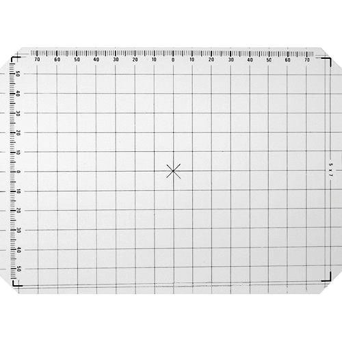 Linhof 5x7 Groundglass Focusing Screen with 1cm Grid