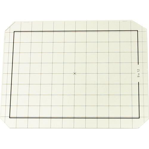 Linhof 4x5 Groundglass Focusing Screen with 9x12 Markings, cm Grid and Roll Film Scoring
